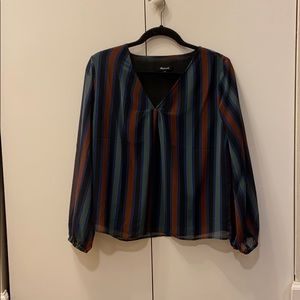 Madewell stripped blouse